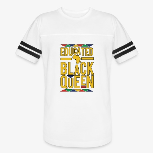 Dashiki Educated BLACK Queen - Vintage Sport T-Shirt