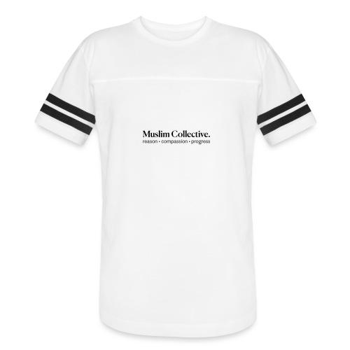 Muslim Collective Logo + tagline - Vintage Sport T-Shirt