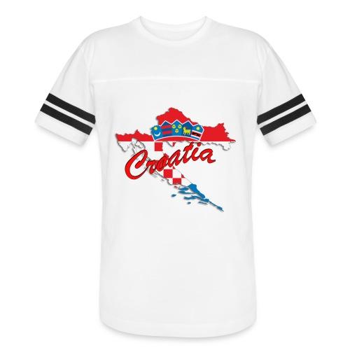 Croatia Football Team Colours T-Shirt Treasure Des - Vintage Sport T-Shirt