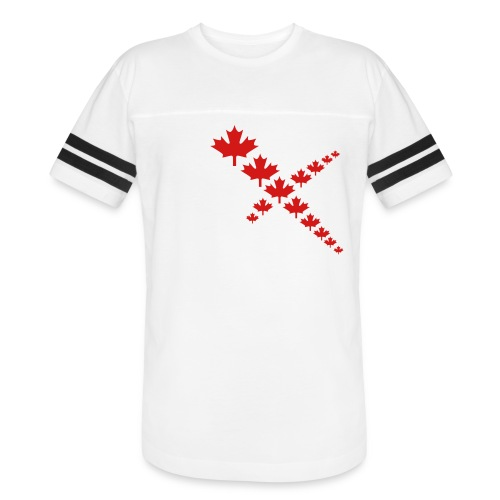Maple Leafs Cross - Vintage Sport T-Shirt