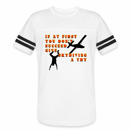 Try Skydiving - Vintage Sport T-Shirt