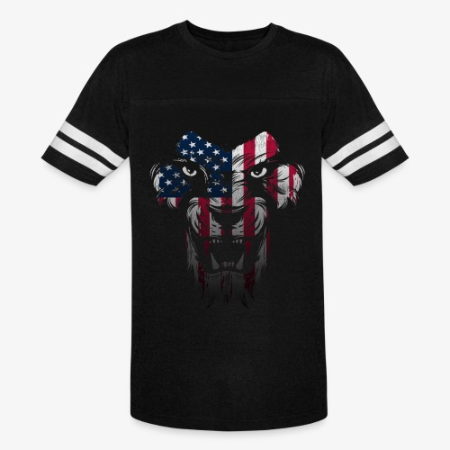 American Flag Lion Shirt - Vintage Sport T-Shirt