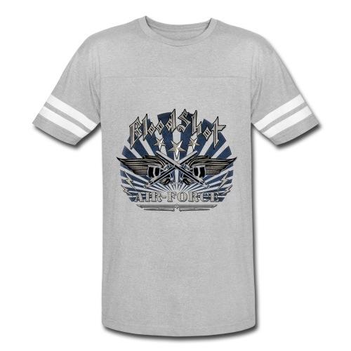 BloodShot Air Force with black - Vintage Sport T-Shirt