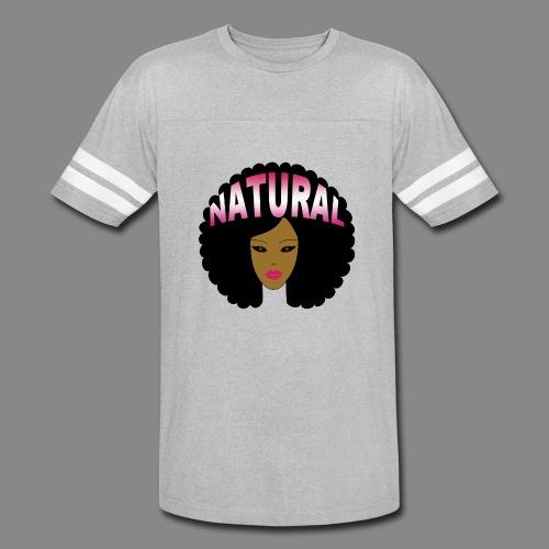 Natural Afro (Pink) - Vintage Sport T-Shirt