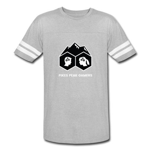 Pikes Peak Gamers Logo (Solid Black) - Vintage Sport T-Shirt