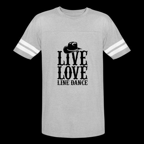 Live Love Line Dancing - Vintage Sport T-Shirt