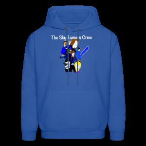 THE SKYGAMERS CREW HOODIE NEON BLUE - Men's Hoodie