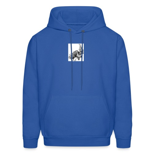 24019358 dragon black and white illustration - Men's Hoodie