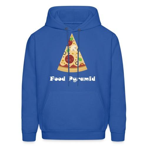 My Food Pyramid, Food Pyramid Shirt, Pizza, Pizza - Men's Hoodie