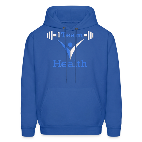 1TH - Blue and White - Men's Hoodie
