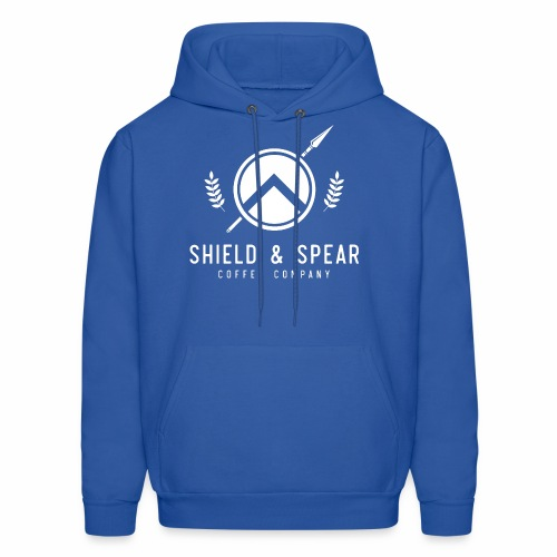 Shield and Spear White Logo - Men's Hoodie
