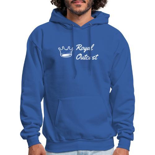 Royal blue Royal Outcast with white logo - Men's Hoodie