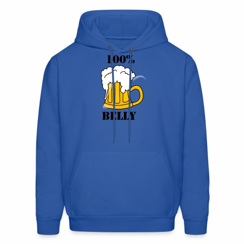 100% BEER Belly - Men's Hoodie