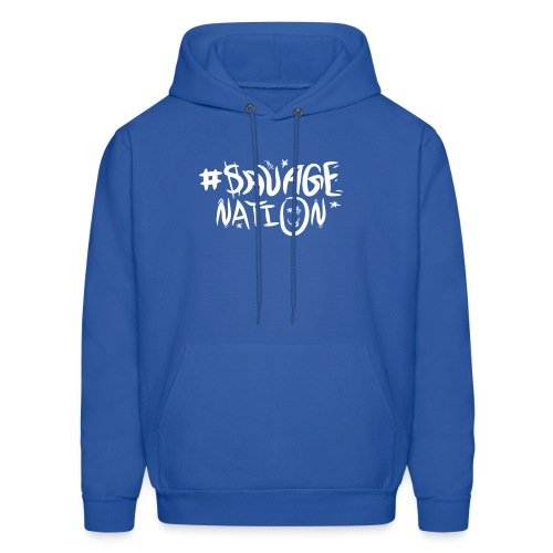 SAVAGE NATION classic white - Men's Hoodie