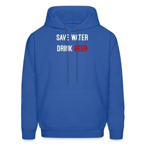 Save Water drink beer - Men's Hoodie