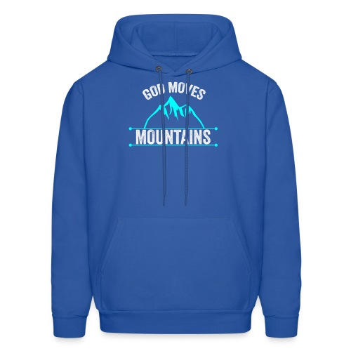 God Moves Mountains - Men's Hoodie
