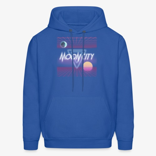 Moon City Retrogrid - Men's Hoodie