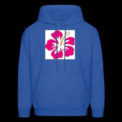 pink hibiscus hoodie - Men's Hoodie