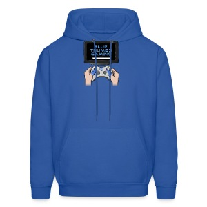 Blue Thumbs Gaming: Gamepad Logo - Men's Hoodie