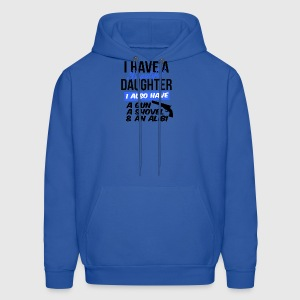 i have a beautiful daughter i also have a gun a sh - Men's Hoodie