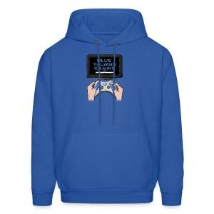 Blue Thumbs Gaming: Gamepad Logo - Men's Hoodie