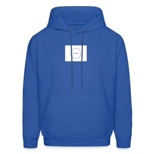 Blue Ring Volleyball (Katie) design logo - Men's Hoodie