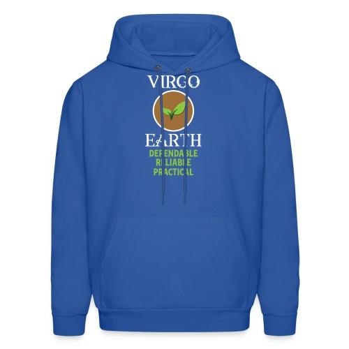 Elemental astrology tshirt Virgo Earth Symbol Gift - Men's Hoodie