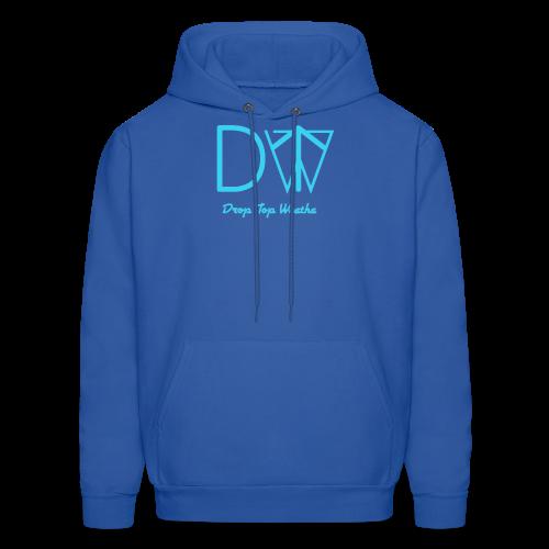Drop Top Weatha logo Carolina Blue - Men's Hoodie