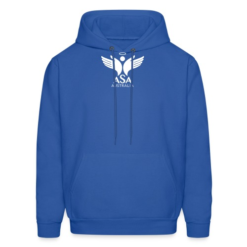 3459 Angelman Logo AUSTRALIA FA WHITE LR - Men's Hoodie