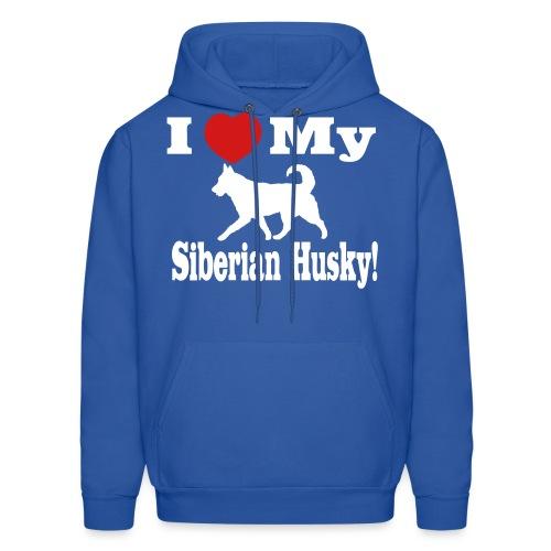 I Love my Siberian Husky - Men's Hoodie