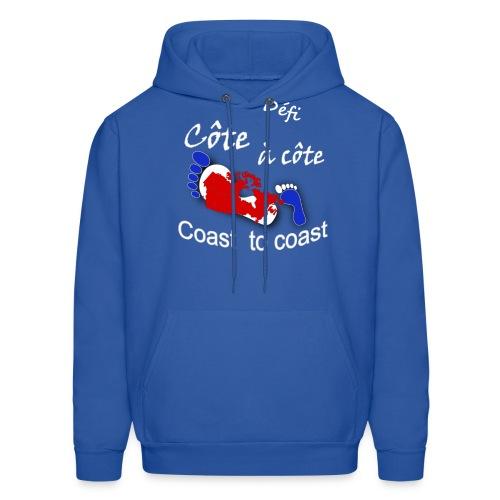 logo Côte à côte_blanc - Men's Hoodie