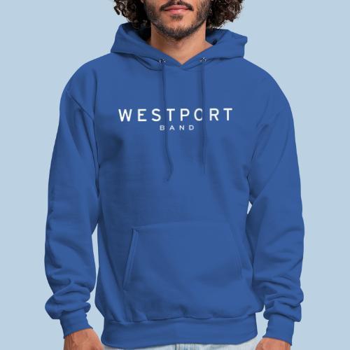 Westport Text White on transparent - Men's Hoodie