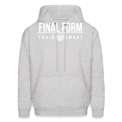 final form logo train smart white png - Men's Hoodie