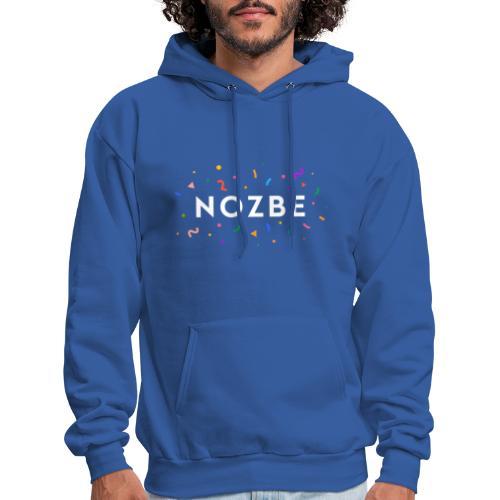 Confetti Nozbe logo in white - Men's Hoodie
