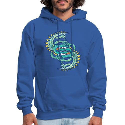 Two brave lizards facing off in a dangerous combat - Men's Hoodie
