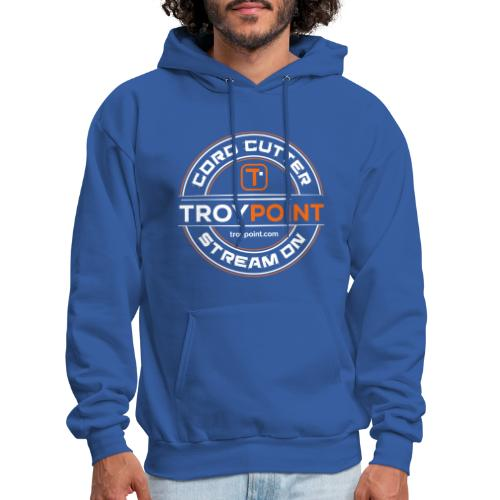 TROYPOINT Cord Cutter - Orange Logo - Men's Hoodie