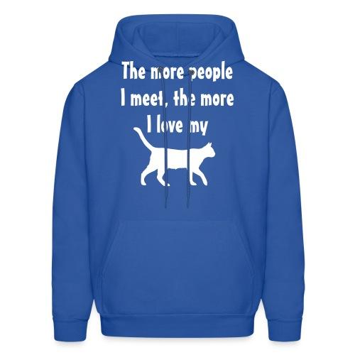 I love my cat - Men's Hoodie