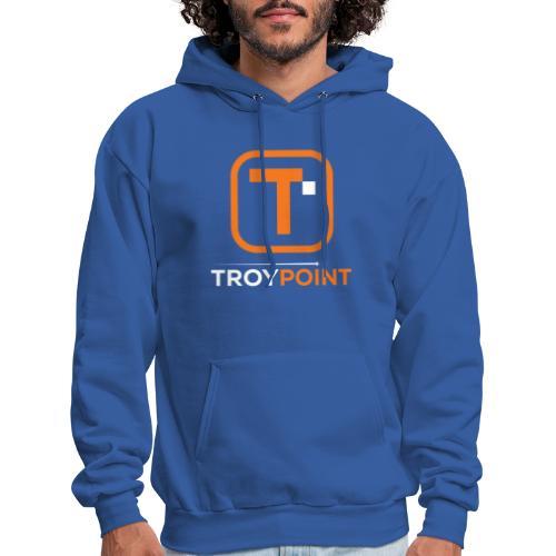 TROYPOINT Orange Logo - Men's Hoodie