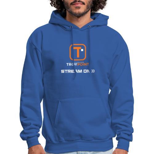 TROYPOINT Stream On Orange Logo - Men's Hoodie