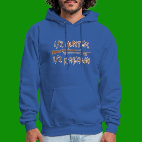 1/2 Hunter 1/2 Fisherman - Men's Hoodie