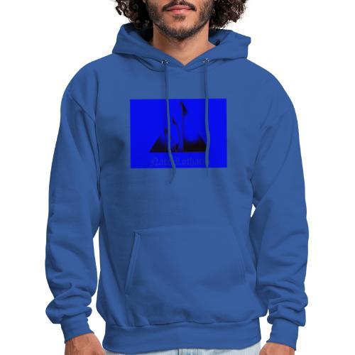 Blue Logo 2 - Men's Hoodie