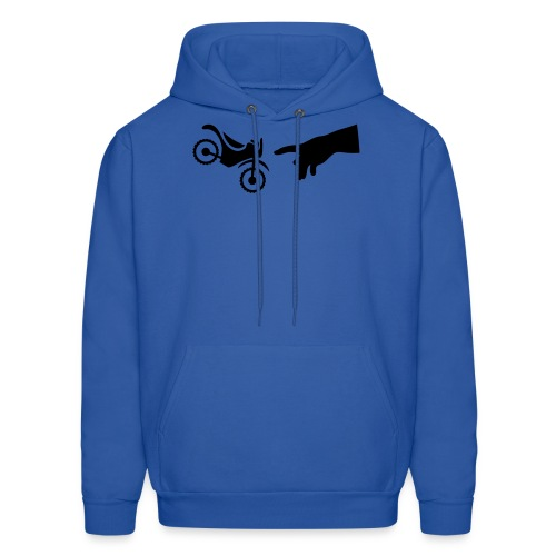 The hand of god brakes a motorcycle as an allegory - Men's Hoodie