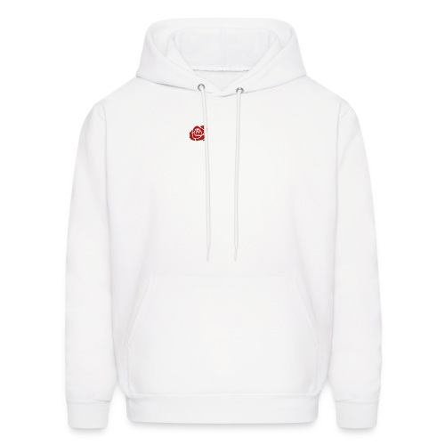Collin. (White w/ Rose) - Men's Hoodie