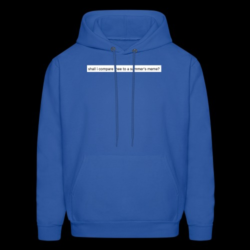 shall i compare thee to a summer's meme? - Men's Hoodie