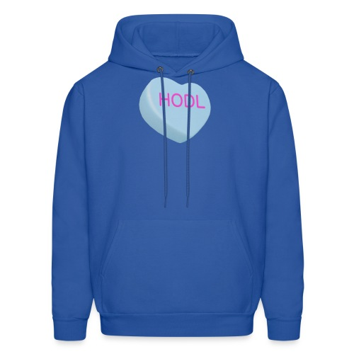 HODL - Hold on For Dear Life - Candy Heart - blue - Men's Hoodie