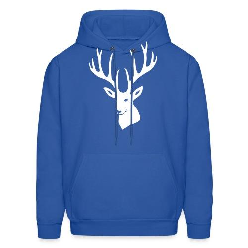 stag night deer buck antler hart cervine elk - Men's Hoodie