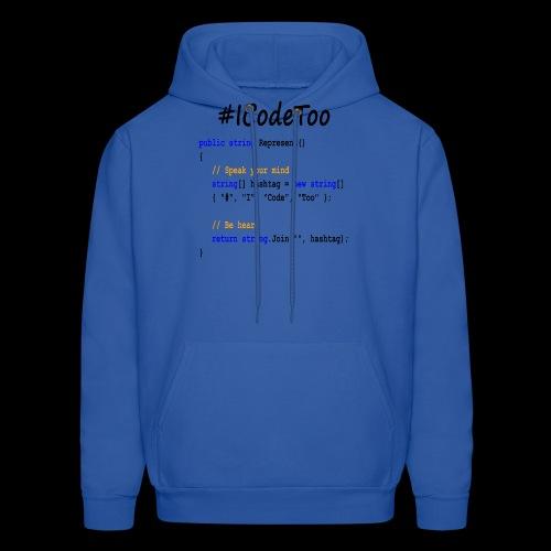#ICodeToo coding diversity statement shirt - Men's Hoodie