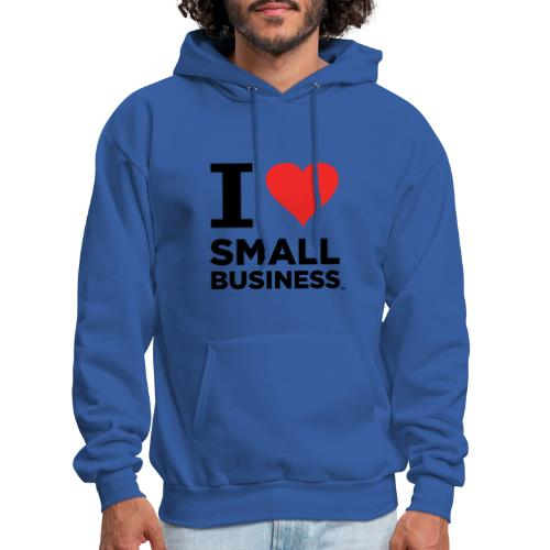 I Heart Small Business (Black & Red) - Men's Hoodie