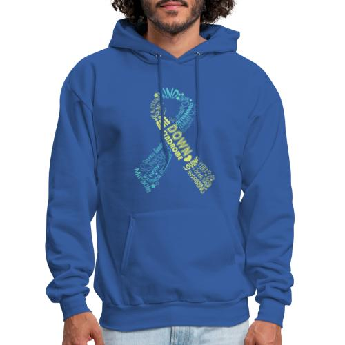 Down syndrome Ribbon Wordle - Men's Hoodie