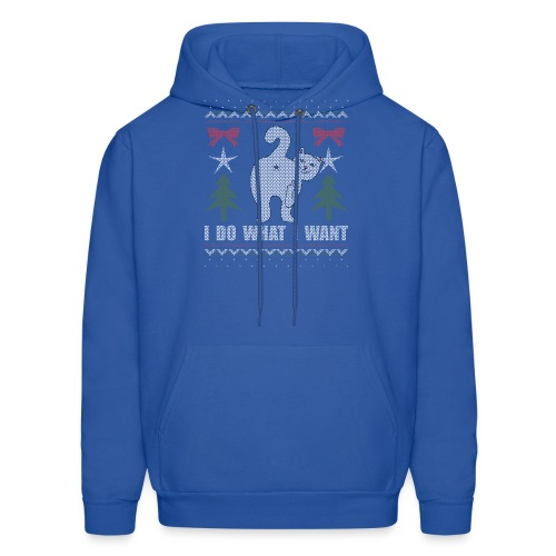 Ugly Christmas Sweater I Do What I Want Cat - Men's Hoodie